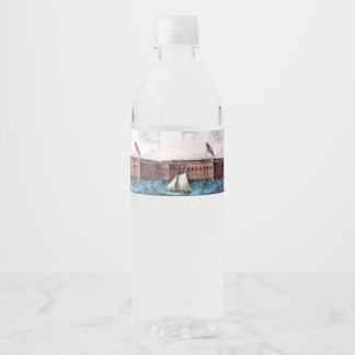 ABH Fort Sumter Water Bottle Label