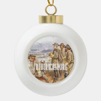 ABH Fredericksburg Ceramic Ball Christmas Ornament