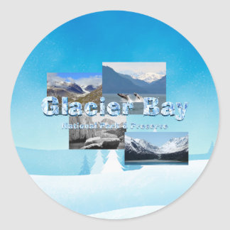 ABH Glacier Bay Round Sticker