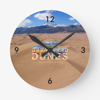 ABH Great Sand Dunes Round Clock