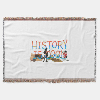 ABH History is Cool Throw Blanket