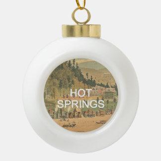 ABH Hot Springs Ceramic Ball Christmas Ornament