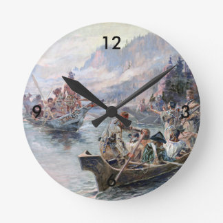 ABH Lewis and Clark NHS Round Clock