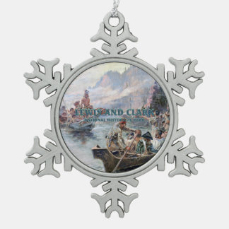 ABH Lewis and Clark NHS Snowflake Pewter Christmas Ornament