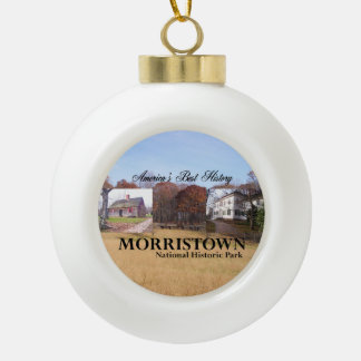 ABH Morristown NHP Ceramic Ball Christmas Ornament