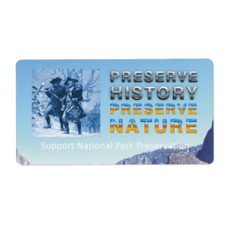 ABH National Park Preservation Custom Shipping Labels