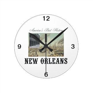 ABH New Orleans Round Clock