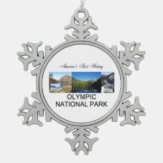 ABH Olympic NP Snowflake Pewter Christmas Ornament