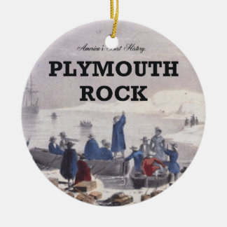 ABH Plymouth Rock Round Ceramic Ornament