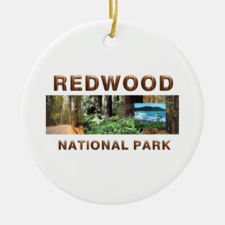 ABH Redwood Round Ceramic Ornament
