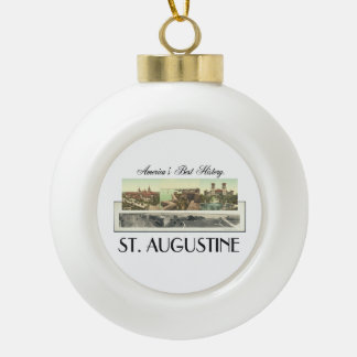 ABH St. Augustine Ceramic Ball Christmas Ornament