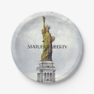 ABH Statue of Liberty Paper Plate
