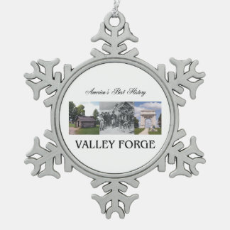 ABH Valley Forge Snowflake Pewter Christmas Ornament
