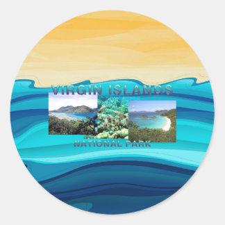 ABH Virgin Islands Classic Round Sticker