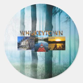 ABH Whiskeytown Round Sticker