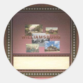 ABH Williamsburg Classic Round Sticker