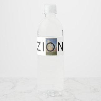 ABH Zion Water Bottle Label
