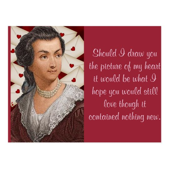 Abigail Adams love letters Postcard