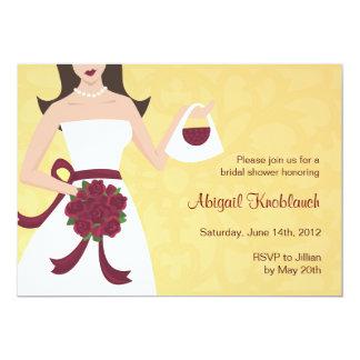 Abigail Bridal Shower invitation red