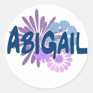 Abigail Classic Round Sticker