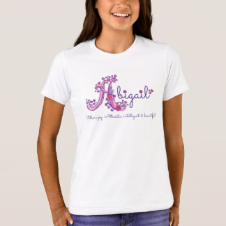 Abigail girls letter A custom name meaning T-Shirt