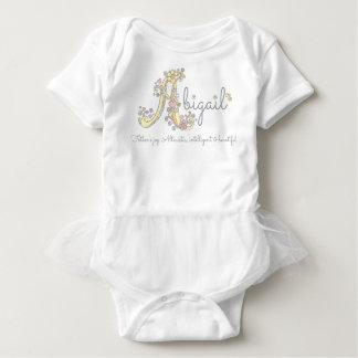 Abigail girls name decorative custom meaning baby bodysuit