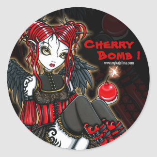 """Abigail"" Gothic Cherrybomb Angel Stickers"