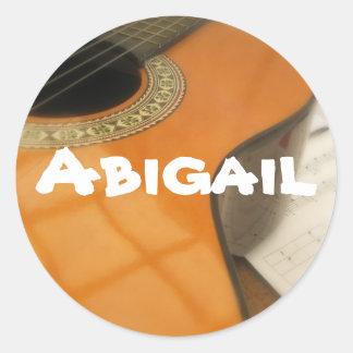 Abigail guitar name label