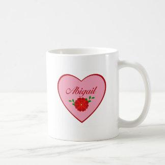 Abigail (heart) coffee mug