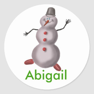Abigail personalized name stickers