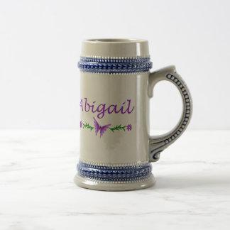 Abigail (purple butterfly) beer stein