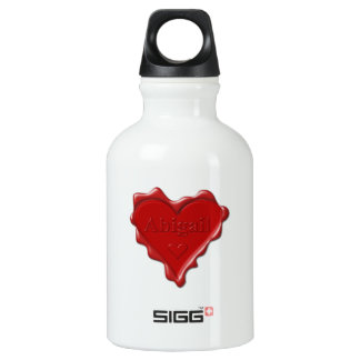 Abigail. Red heart wax seal with name Abigail Water Bottle