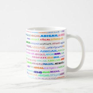 Abigail Text Design II Classic White Mug