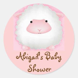 Abigail's Baby Shower Classic Round Sticker