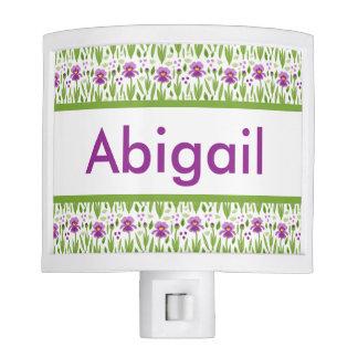 Abigail's Personalized Iris  Night Light