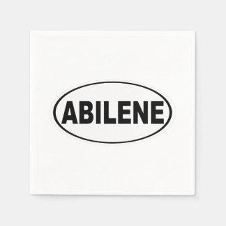 Abilene Texas Paper Napkin