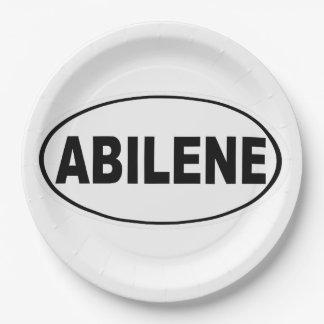 Abilene Texas Paper Plate
