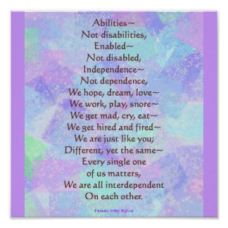 Abilities Poem Poster