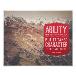 Ability And Character Photo Print
