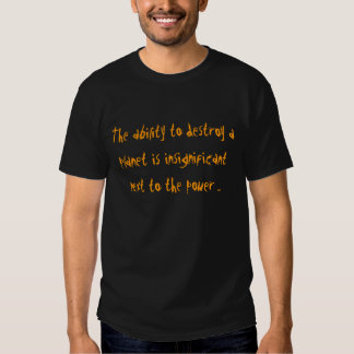 ability to destroy a planet ginger ninja tshirt