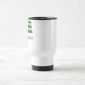 Abkhazia Waving Flag with Name in Georgian Travel Mug