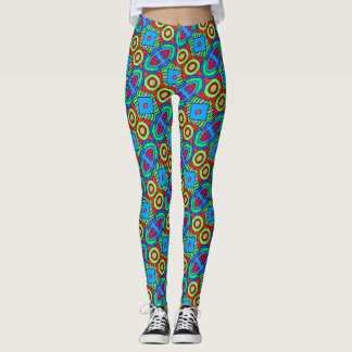 ABL - 108 - Blue, Green and Red - Leggings
