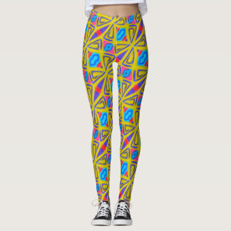 ABL - 126 - Yellow and Blue Leggings
