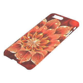 Ablaze in a Hot Ruby Red Dahlia Fractal Flower iPhone 8 Plus/7 Plus Case