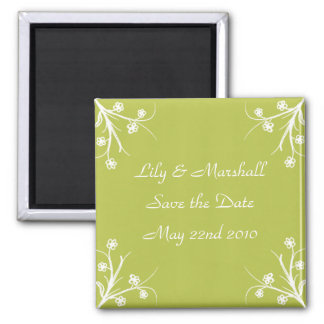 Abloom in Olive Save The Date Magnet