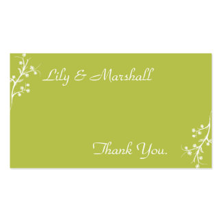 Abloom in Olive Thank You Card Business Card