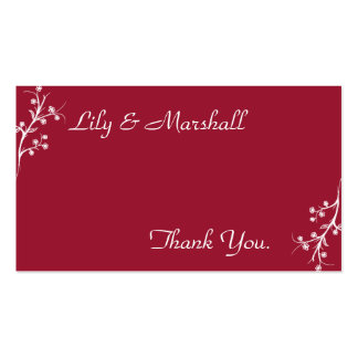 Abloom in Wine Thank You Card Business Card