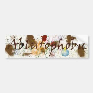 Ablutophobic (fear of bathing) Bumper Sticker