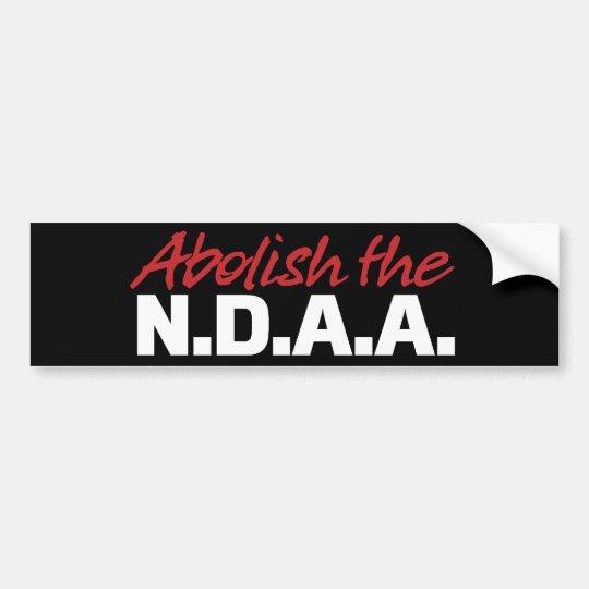 Abolish the NDAA Bumper Sticker
