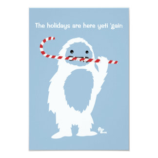 Abominable Snowman Party Invitation